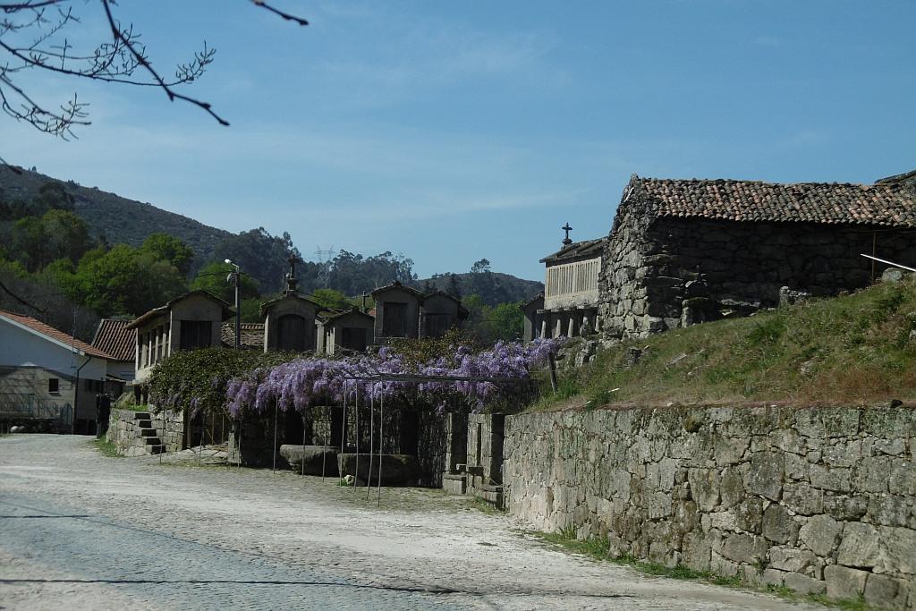 Norden Dorf mit Getreidespeichern